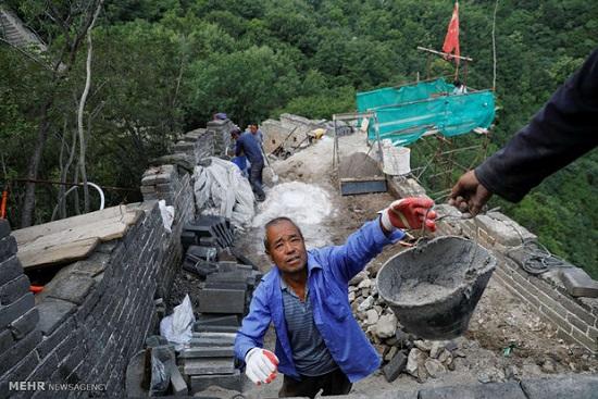 تصاویر : بازسازی دیوار بزرگ چین
