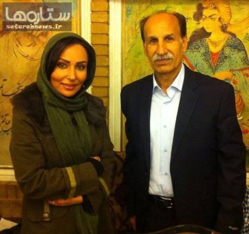 تصویر بازیگر زن معروف با مرحوم مظلومی