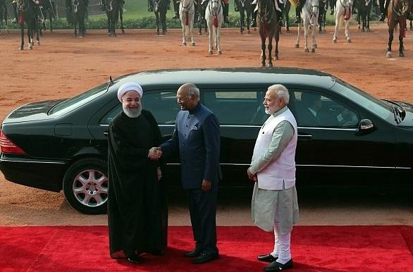 فرش قرمز هندی ها برای استقبال از روحانی +عکس