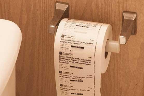 عکس/ توئیتهای ترامپ دستمال توالت شد!
