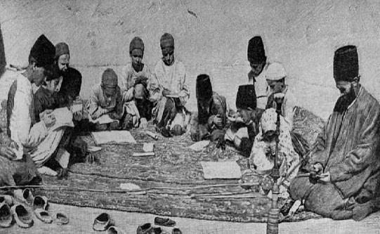 عکس/ مکتب خانه در دوران قاجار