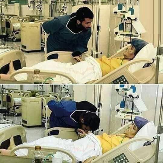 لحظه تلخ وداع بشار رسن با مادرش +عکس